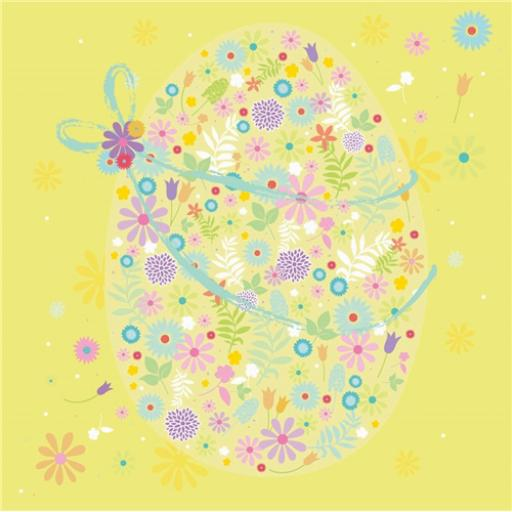 Easter Card Pack - Floral Egg