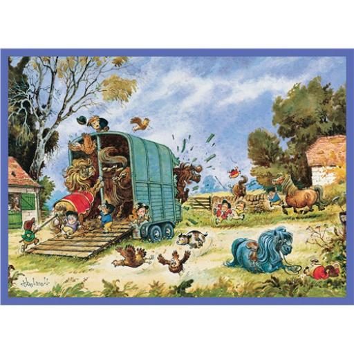 Thelwell Card - The Horsebox