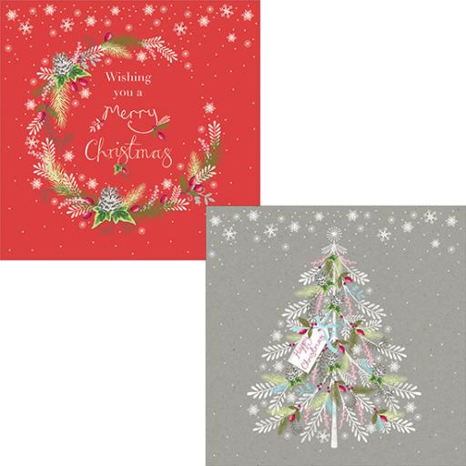 Help For Heroes Christmas Card Pack (Luxury) - Festive Wreath