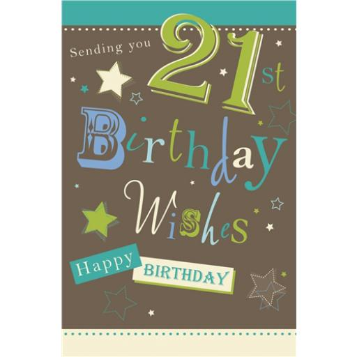 Age To Celebrate Card - 21 Birthday Text