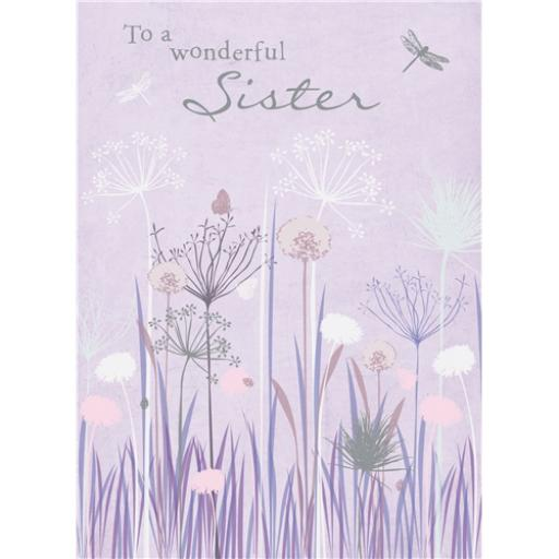 Family Circle Card - Purple Grasses (Sister)