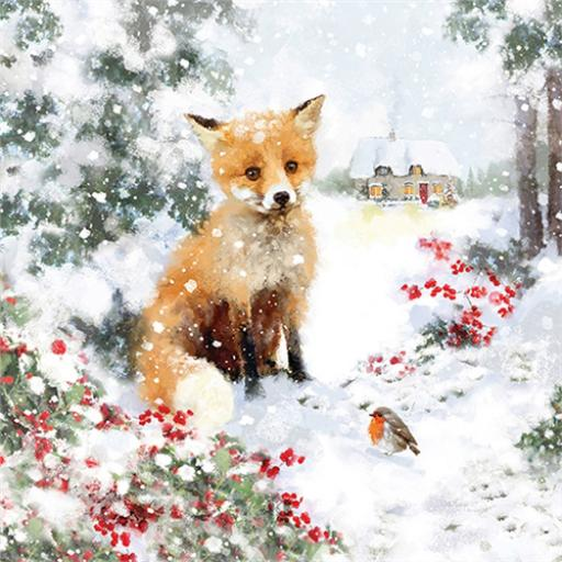 Charity Christmas Card Pack - Festive Fox