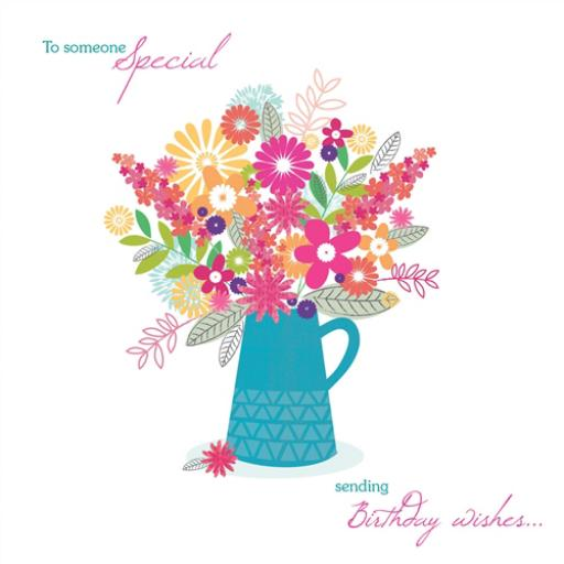 Family Circle Card - Vase Of Flowers (Someone Special)