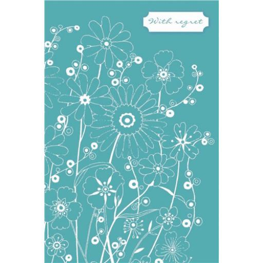 Wedding Regret Card - Floral Outline