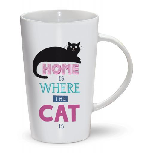 Latte Mug - Where The Cat Is