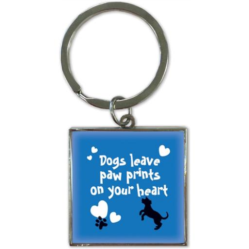 Key Ring - Dogs Leave Paw Prints