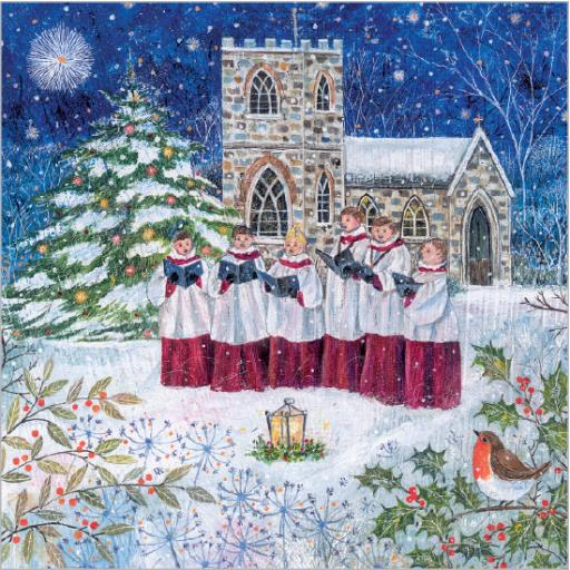 Charity Christmas Card Pack - Carol Singing