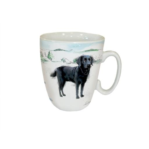 Curved Mug - Black Labrador