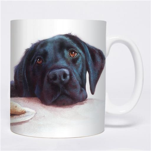 Straight Sided Mug - Watercolour Black Labrador