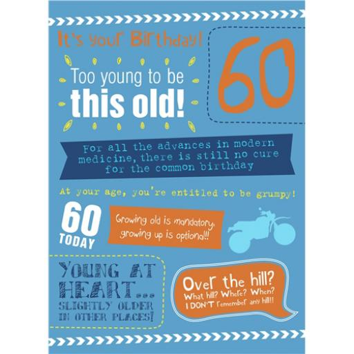 Age To Celebrate Card - 60 Text