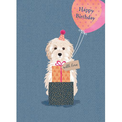 Pom Poms Card Collection - Balloon Pup