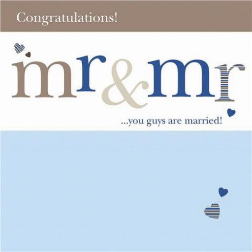 Wedding Card - Mr & Mr