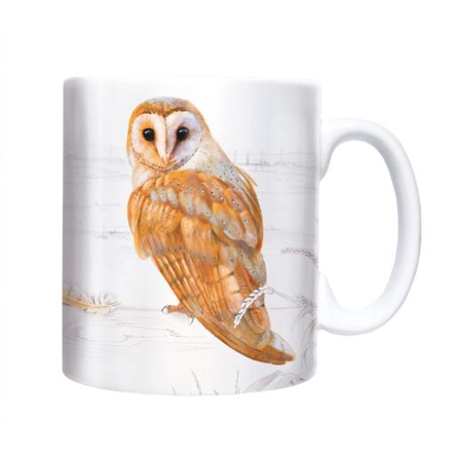 Straight Sided Mug - Barn Owl