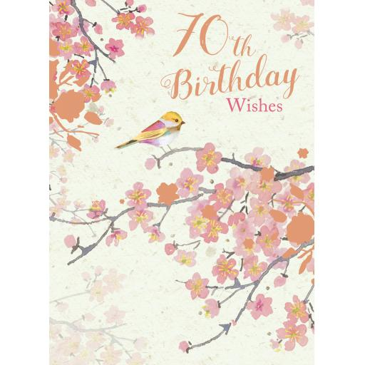 Age To Celebrate Card - 70 Little Bird
