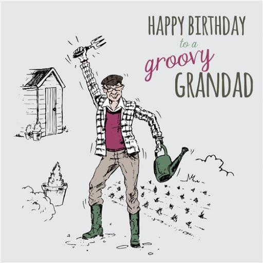 Family Circle Card - Groovy Grandad (Grandad)