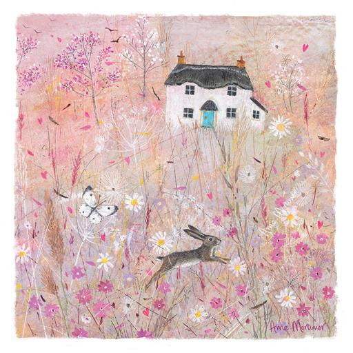 Country Lanes Card - Jumping Hare