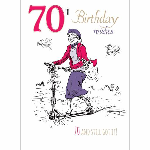 Young At Heart Card - 70 Female Still Got It