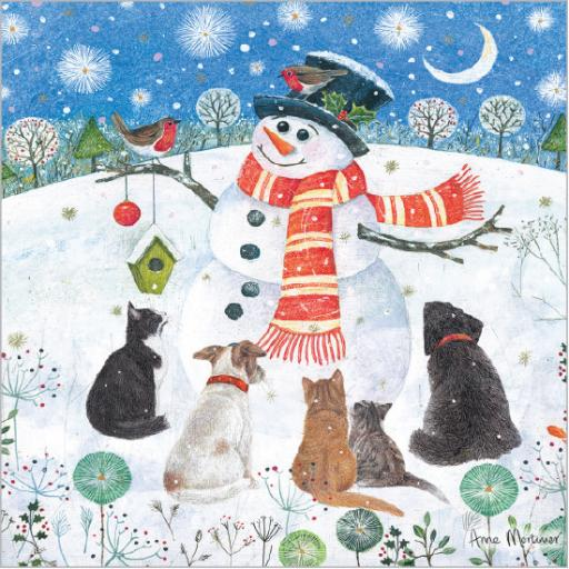 Charity Christmas Card Pack - Snowman's Friends