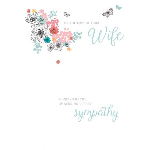 Sympathy Card - Loss Of Wife