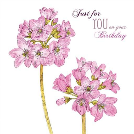 Vintage Garden Card - Pink Elephant Ears