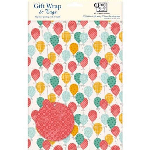 Gift Wrap & Tags - Birthday Balloons