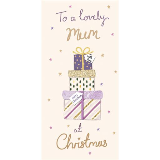 Christmas Card (Single) - Mum - Pile Of Presents
