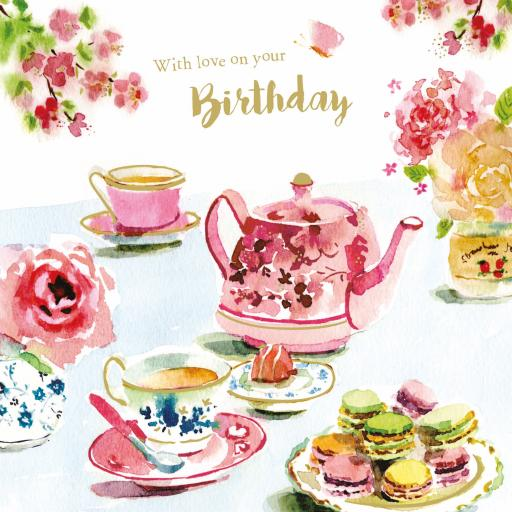 Birthday Treats Card Collection - Cream Tea