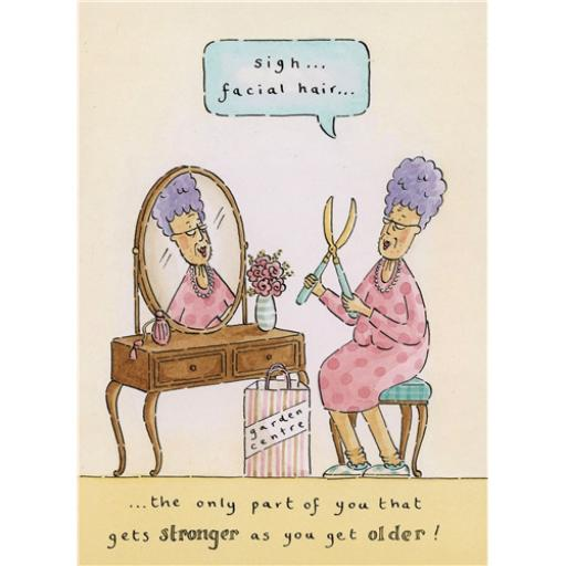 Blue Rinse Card - Stronger & Older