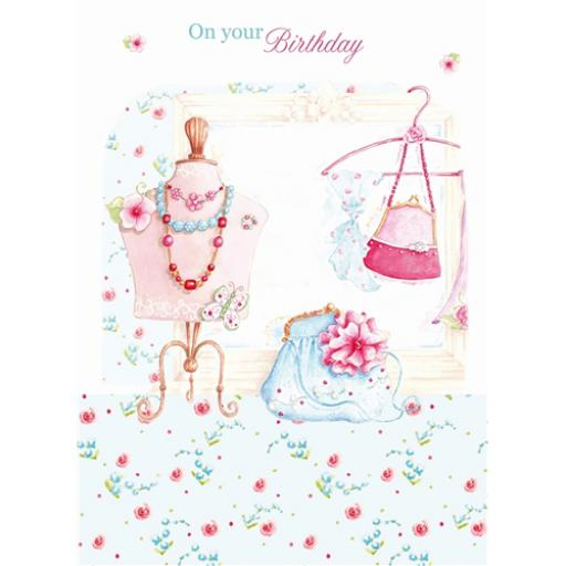 Teacups & Trinkets Card - Handbags