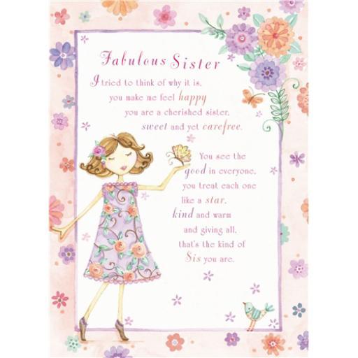 Sentiments Card - Fabulous Sister
