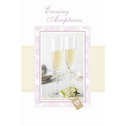 Wedding Card - Champagne (Accept Card)