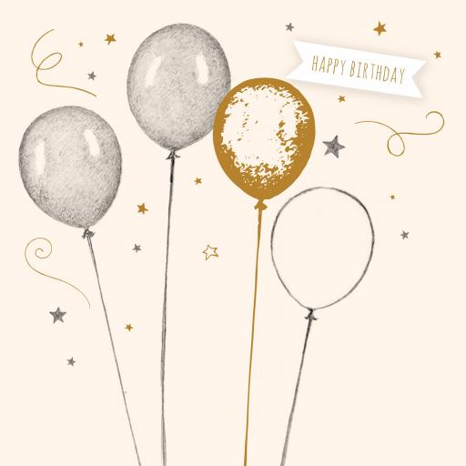 Feuille d'or Card Collection - Birthday Balloons
