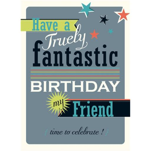 Family Circle Card - Fantastic Text (Friend male)