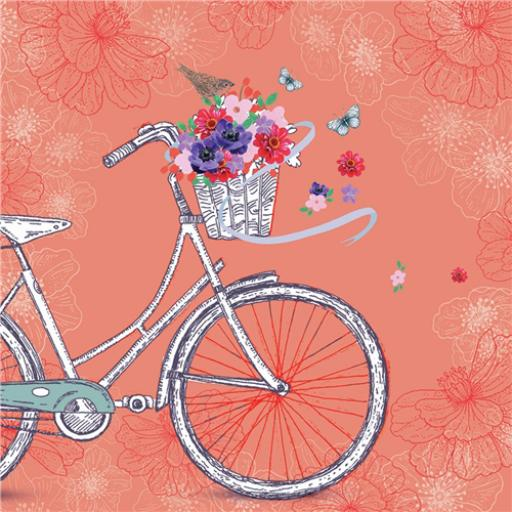 Vintage Garden Card - Vintage Bicycle