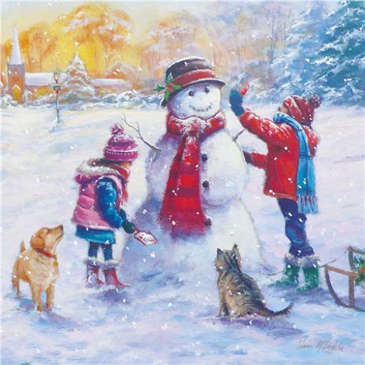 Charity Christmas Card Pack - Snowman Fun