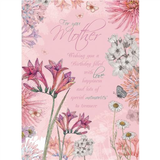 Family Circle Card - Botanical Pink Floral (Mother)