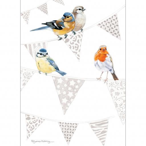 Notecard Pack - Birds & Bunting
