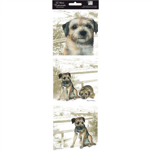 Hanging Notecard Pack - Border Terrier