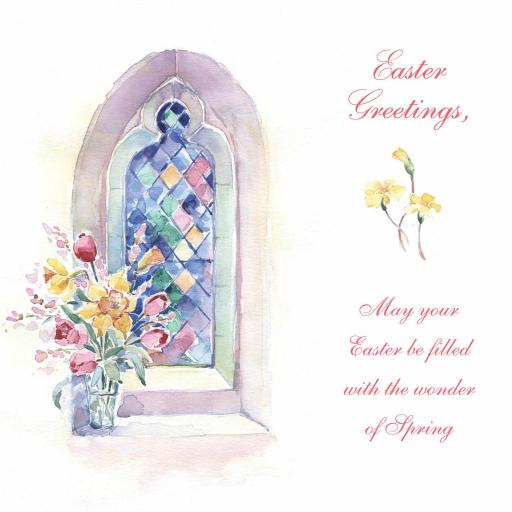 Easter Card Pack - Stained Glass Window