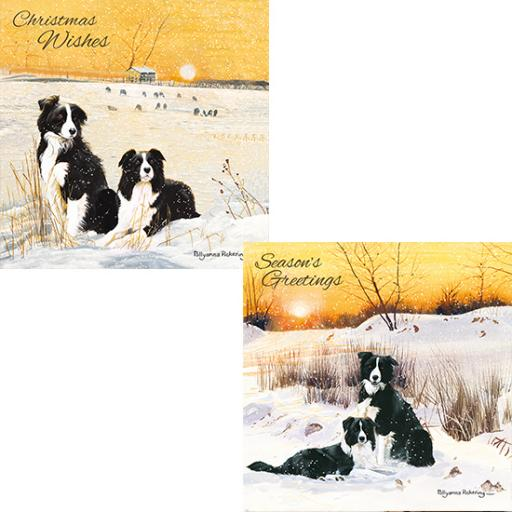 Luxury Christmas Card Pack - Winter Sunset
