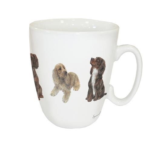 Curved Mug - Spaniels