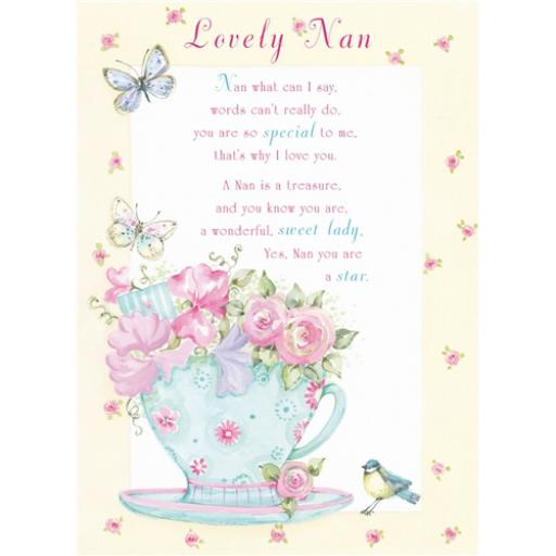 Sentiments Card - Lovely Nan