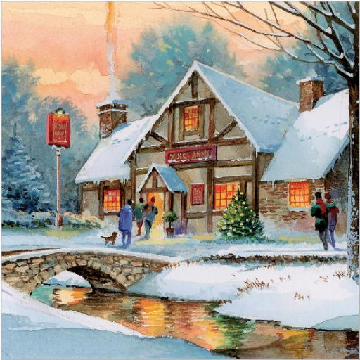 Charity Christmas Card Pack - Christmas Eve Stroll