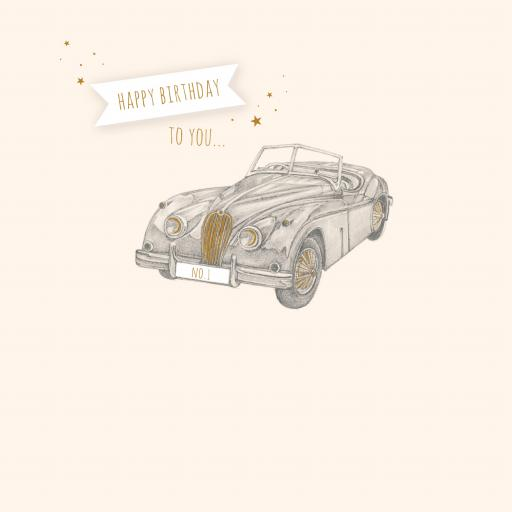 Feuille d'or Card Collection - Vintage Car