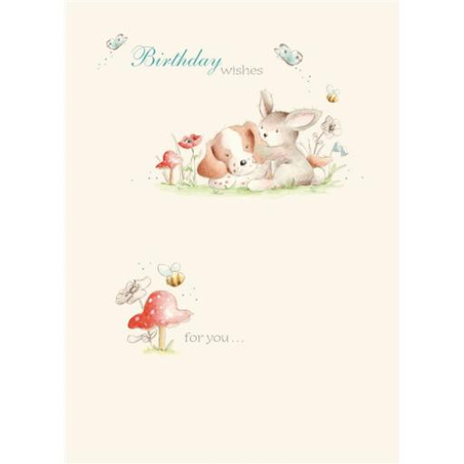 Friends From Bluebell Wood Card - Cuddling Up
