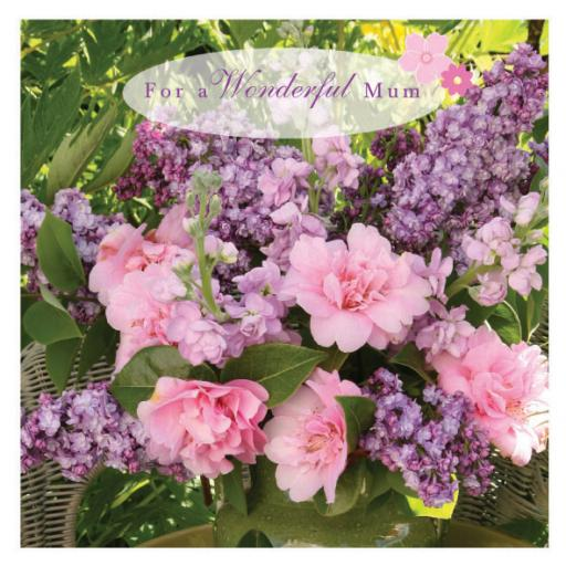 Mother's Day Card - Pink & Purple Flowers