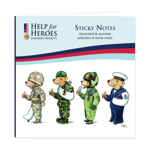 Help For Heroes Stationery - Sticky Notes Selection (Square)