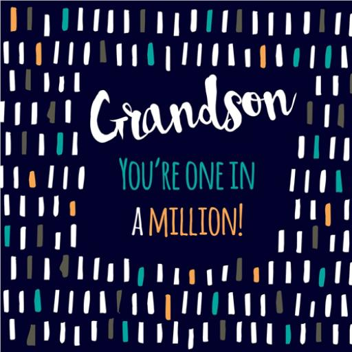 Family Circle Card - One In A Million (Grandson)