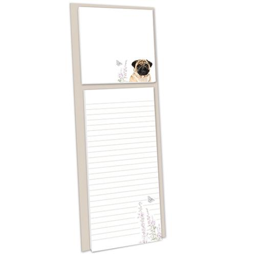 Pollyanna Pickering Stationery - Magnetic Memo Pad With Sticky Notes (Pug)