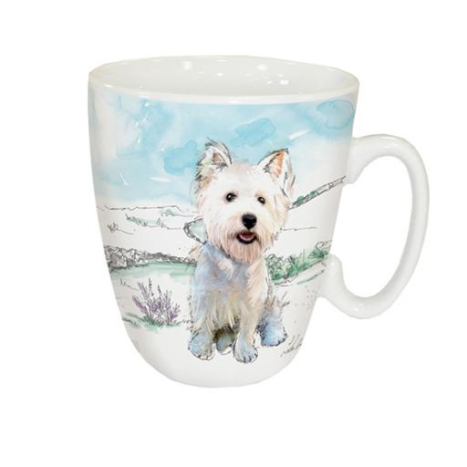 Curved Mug - West Highland White Terrier